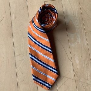 Nordstrom Orange Striped Silk Tie